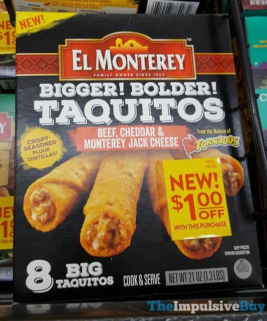 El Monterey Beef, Cheddar & Monterey Jack Cheese Bigger! Bolder! Taquitos