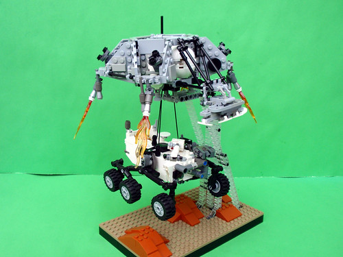 LEGO Curiosity Rover with skycrane
