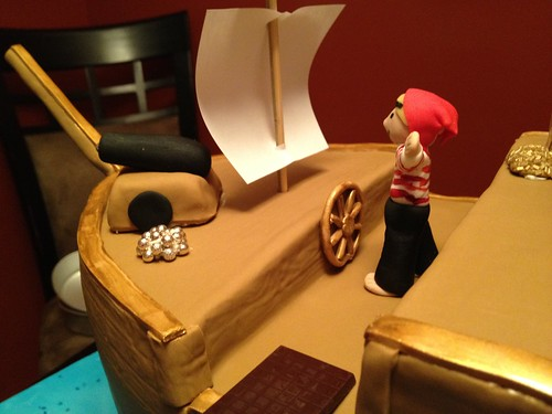 Pirate Ship Birthday Cake (6/6)