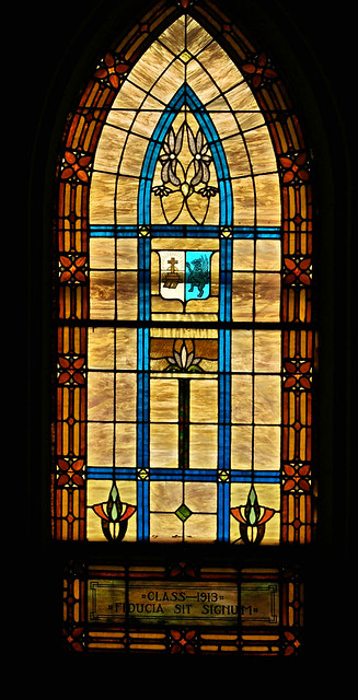 Class of 1919's window in the chapel
