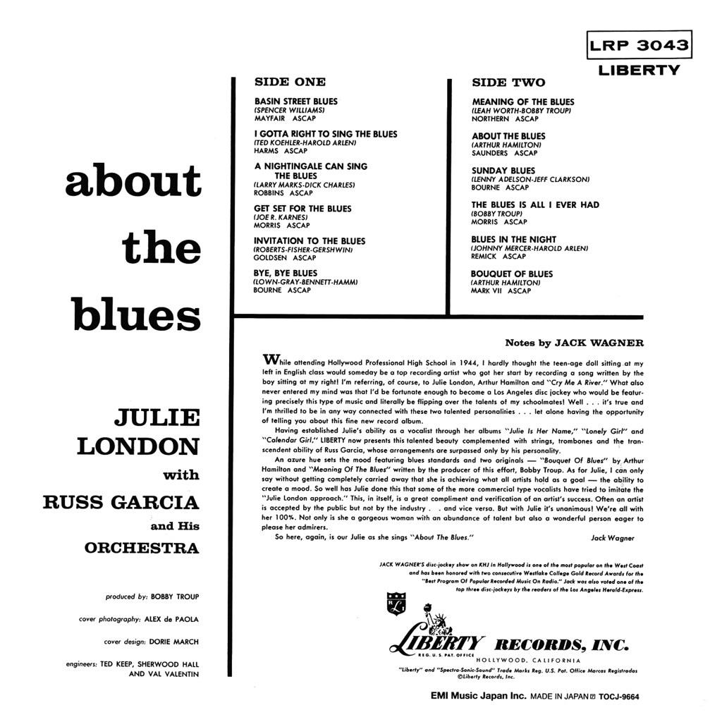 Julie London - About the Blues