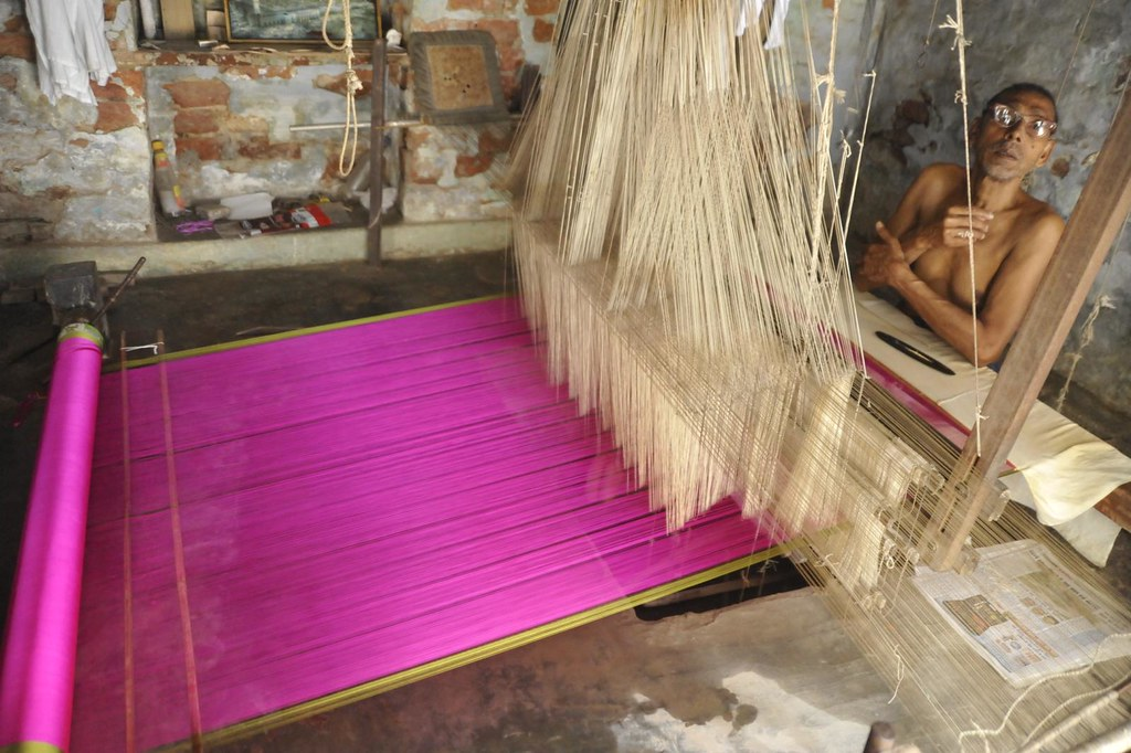 my creation : silk saree weaving, Varanasi, India