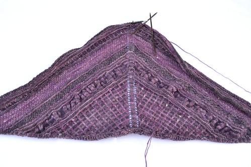 Improv shawl progress