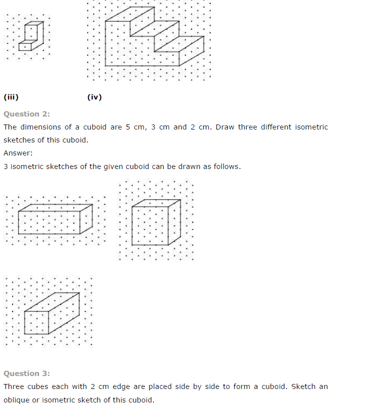 NCERT Solutions for Class 7th Maths Chapter 15 Visualising Solid Shapes Exercise 15.2