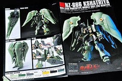 HGUC Kshatriya Pearl Clear (green) Binder Ver. Unboxing Pictures (7)
