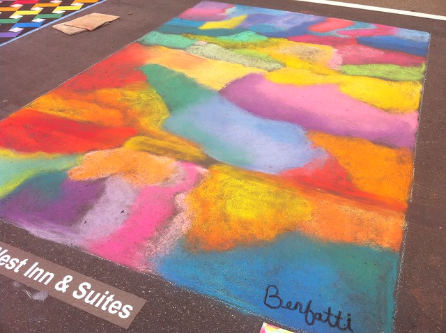 rainbow chalk