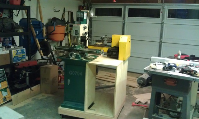 Lathe and milling machine installed