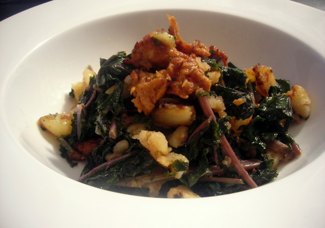 Sausage, kale and potato hash