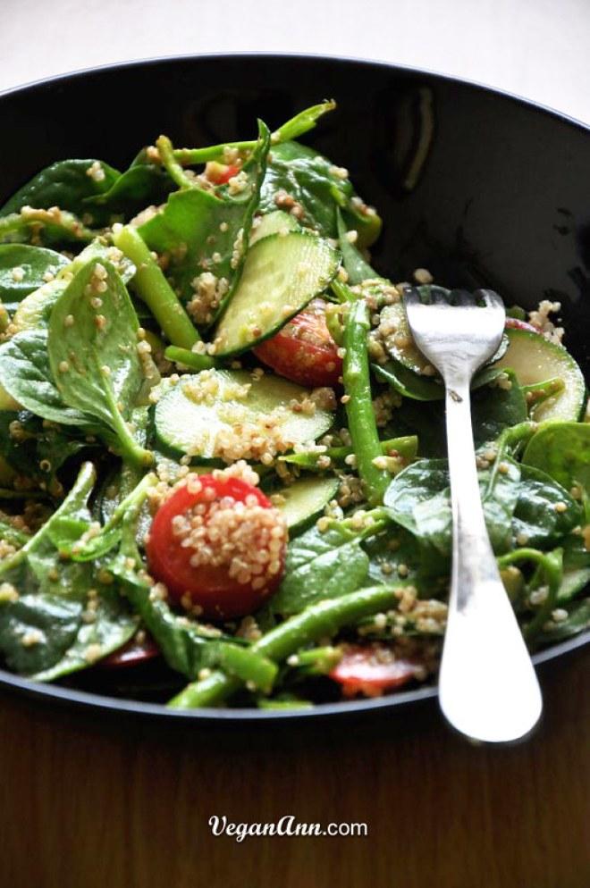 Quinoa Edamame Salad with Sesame Dressing2