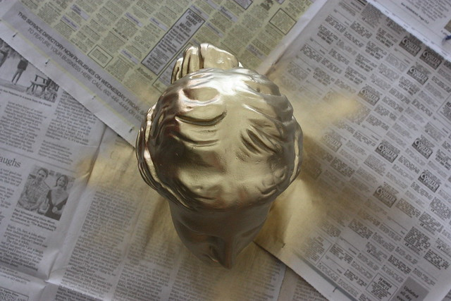 Gold Painted Head