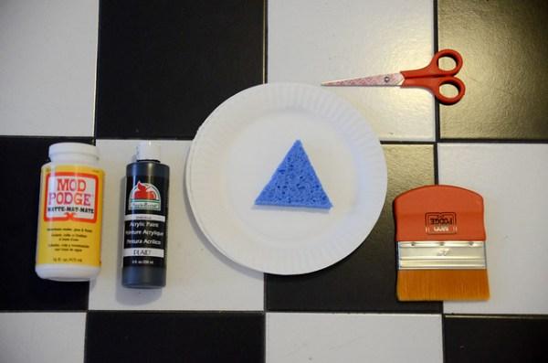 DIY Geometric Dresser