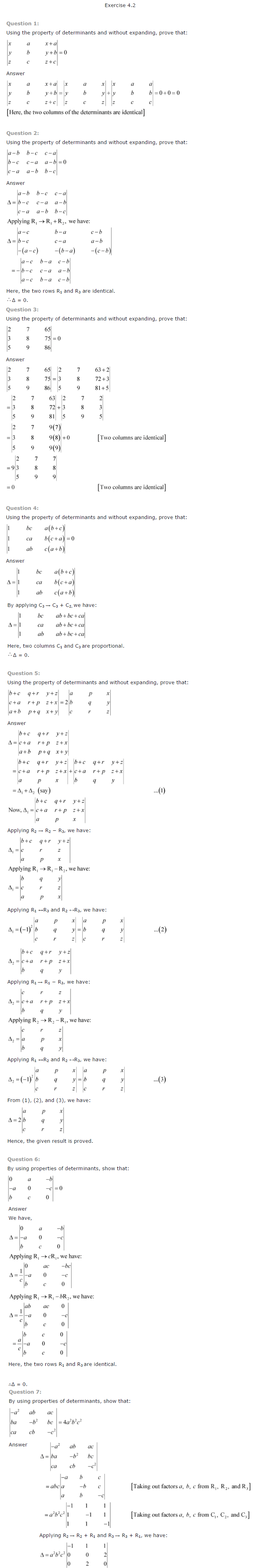NCERT Solutions for Class 12 Maths Chapter 4 Determinants ex 4.3