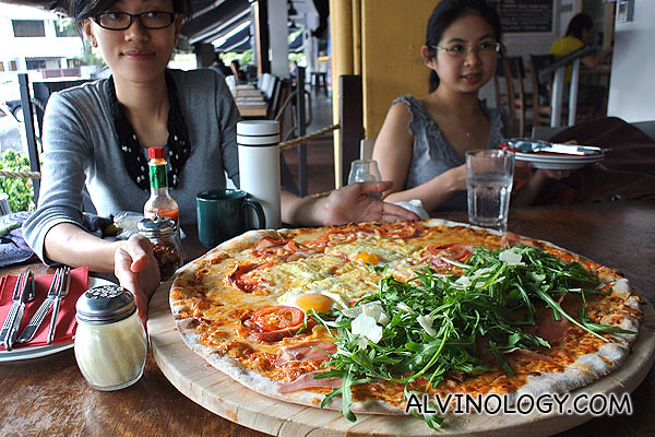 Our gigantic pizza