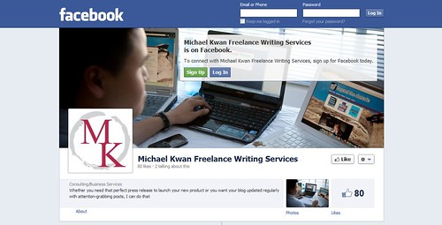 Michael Kwan Freelance Writing Services Facebook Page