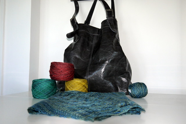 Handbag and yarn