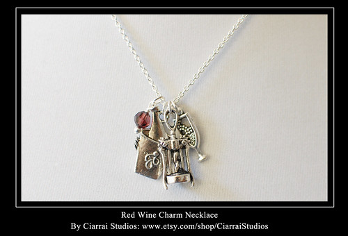 Red Wine Charm Necklace
