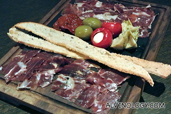 Spanish ham selection (S$38)
