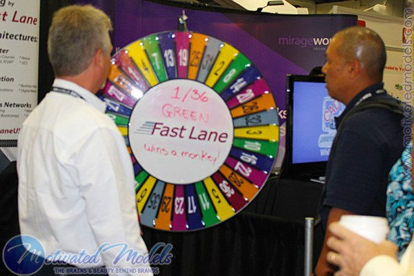 VMWorld marketing, vmworld prize wheel, prize wheel, giveaway, spin to win, trade show spin wheel, trade show, spin wheel