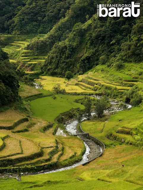 Guihob natural pool and rice terraces in banaue ifugao