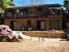Backyard landscaping in progress