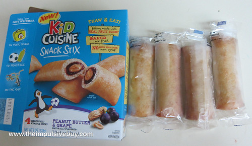 Kid Cuisine Snack Stix Peanut Butter & Grape Frozen