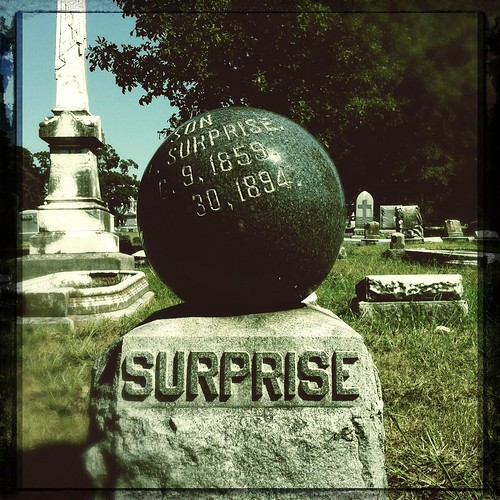 Surprise! Elmwood Cemetery, Memphis, Tenn.