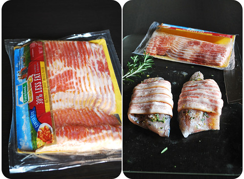 Roasted Bacon-Wrapped Sea Bass II