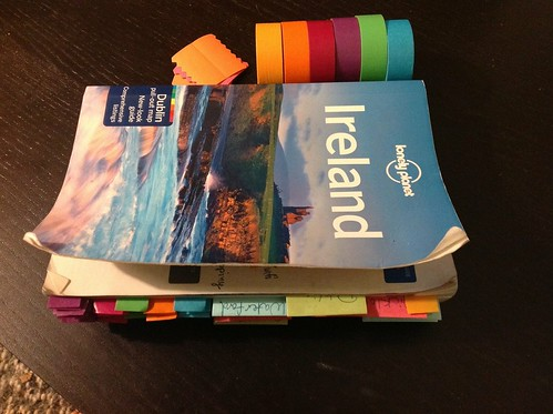 Guidebook with washi tape tabs