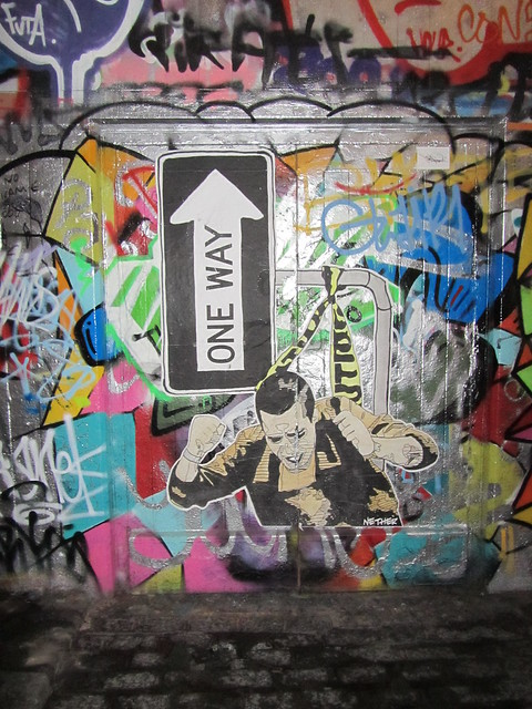 Southbank street art by NETHER
