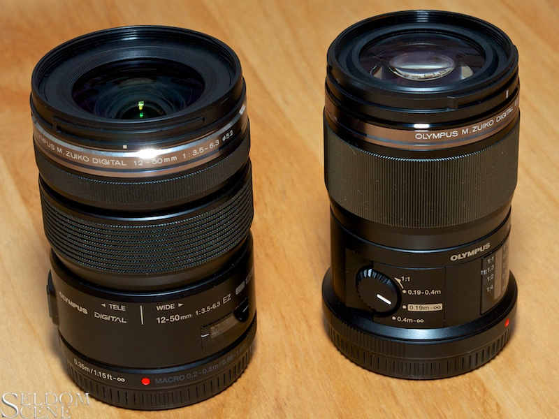 Side by side with stock lens