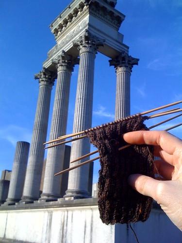 Roman re-built ruins!