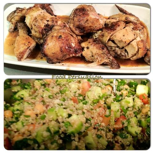 Chicken Marsala and salad