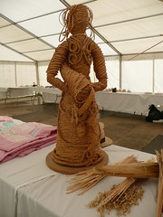 One of Helen Moran's wonderful corn dolly creations