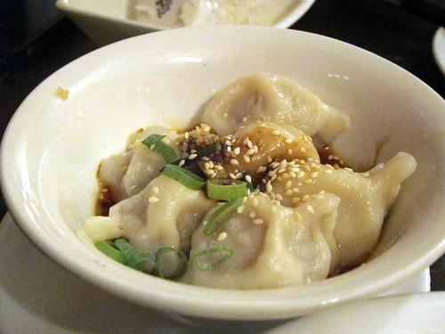Boiled Crescent Dumplings in Chilli-Oil Sauce