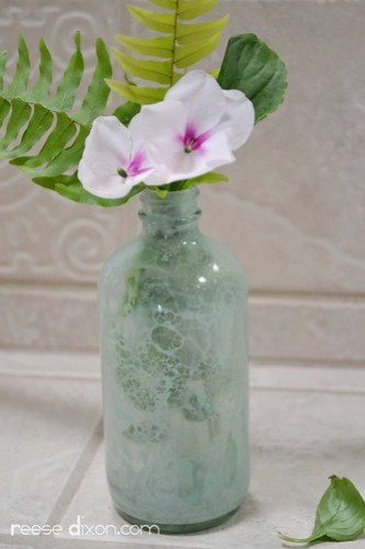 Bubble Painted Glass Vase