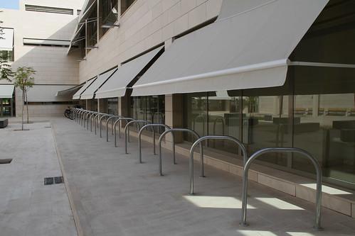 Aparcamiento para Bicicletas en el nuevo Conservatorio de música de Córdoba.