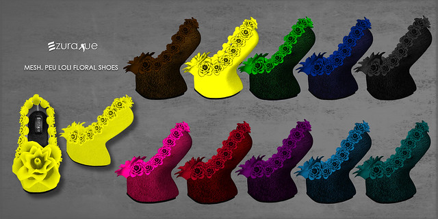 ezura + MESH . Peu Loli Floral Shoes