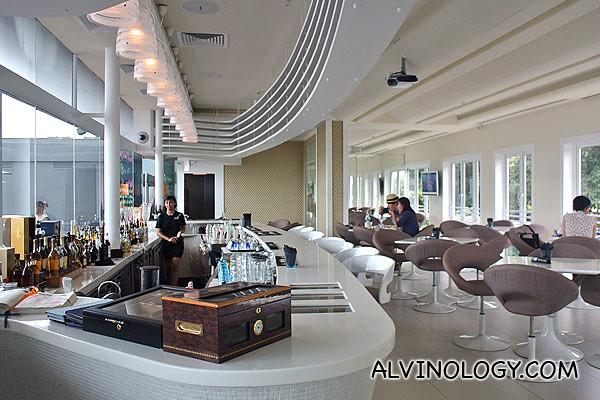 Sky Loft's indoor dining area