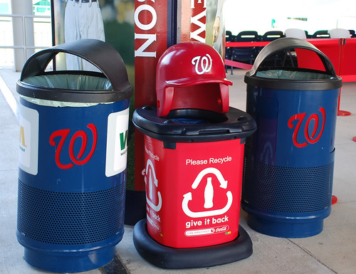 recycling at DC's Nationals Park (by: Adam Fagen, creative commons)