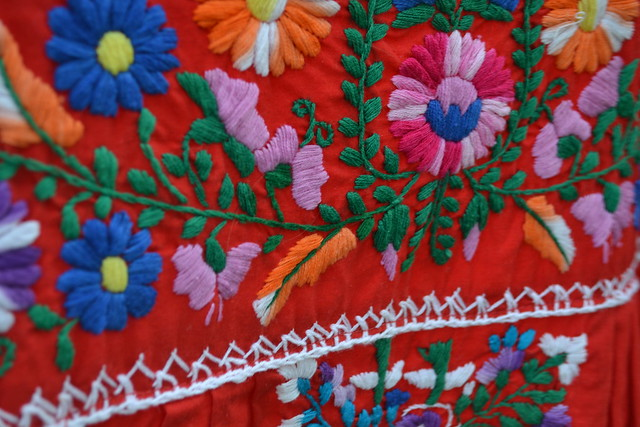 opulent-vintage-red-embroidered-dress-detail