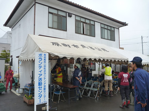南相馬市小高区の個人宅でお手伝い (ボランティアチーム援人) Volunteer at Minamisoma (Fukushima pref.), Affrected by the Tsunami of Japan Earthquake and Fukushima Daiichi nuclear plant accident