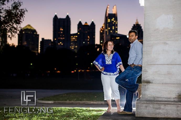 Navneet & Nakul's Engagement Session | Piedmont Park & Midtown | Atlanta Indian Gujarati Sikh Wedding Photographer