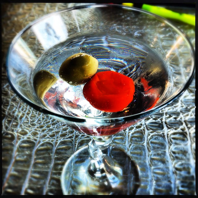 Whatever it is called when you add a pickled pepper to a martini