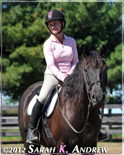 Centered Riding clinic with Kathy Culler. Stone Tavern Equestrian Center, Allentown, NJ.