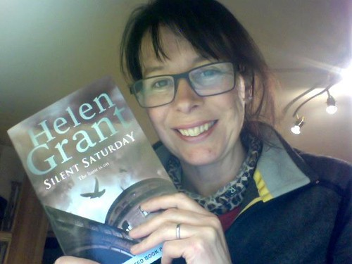 Helen Grant and her new book, Silent Saturday