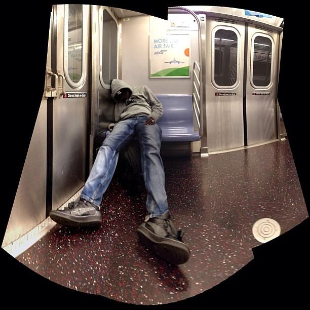 I wanna go home please. F train