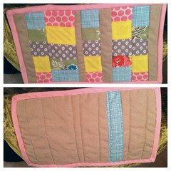 pieced, stitched in the ditched, bound, done! four more to go! #craftynicole