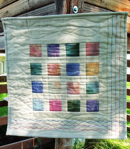 Fab Little Quilt Swap Received! by ruthiequilts