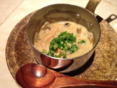 ズワイガニと茸の味噌和え@木かげ