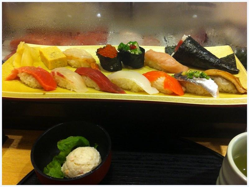 Sushi set at Tsukuji